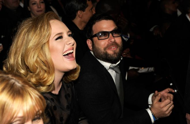 British singer Adele with husband Simon Konecki