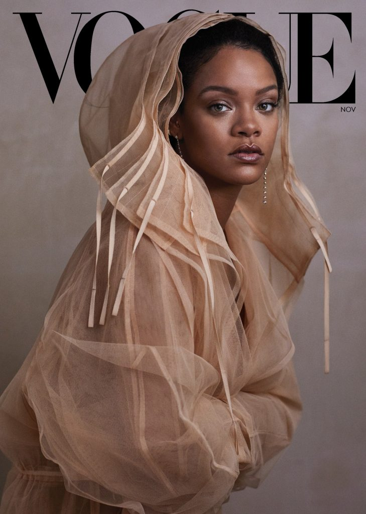 Rihanna on the cover of Vogue Novemenr issue