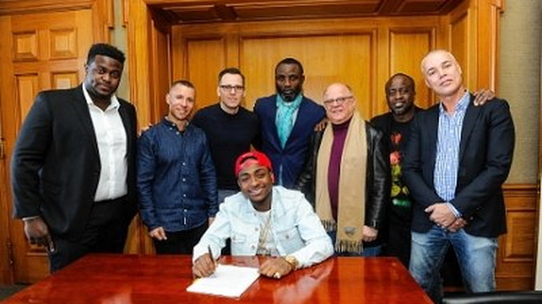 Davido signs Sony deal