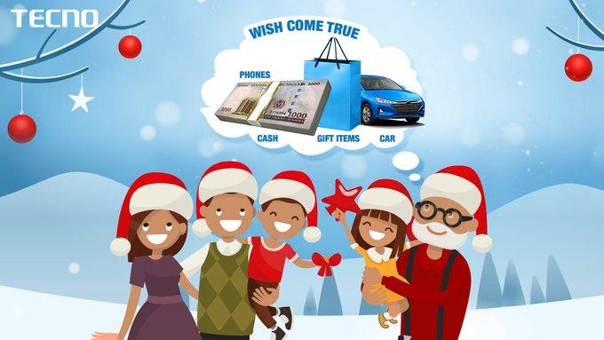 Tecno Christmas make a wish for Tecno Canom 12