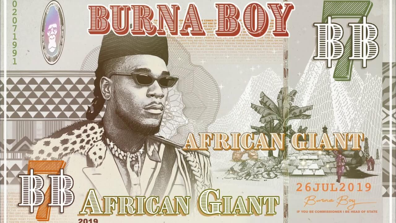African Giant's cover art inspired by the Nigerian 100 Naira bill.