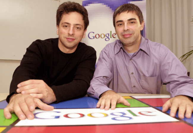Google co-founders Larry Page and Sergey Brin are stepping down