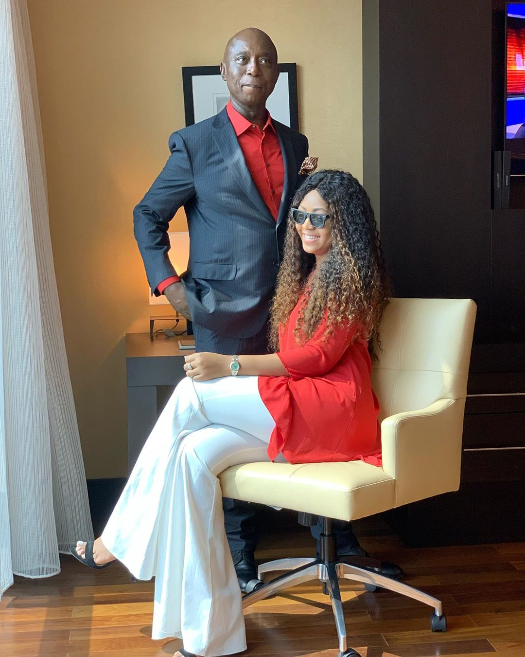 Prince Ned Nwoko and wife, Regina Daniels.