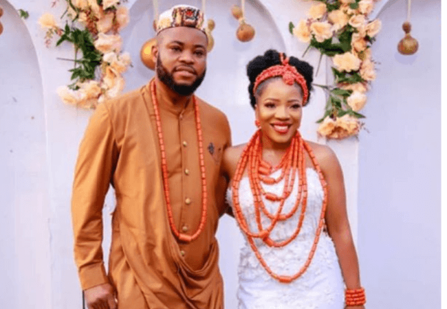 #TheSBond: Check out the first pictures from Sandra Ikeji and Arinze's traditional wedding