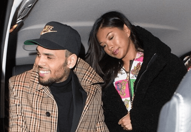 Chris brown shares photo of topless Ammika Harris cradling their son, Aeko
