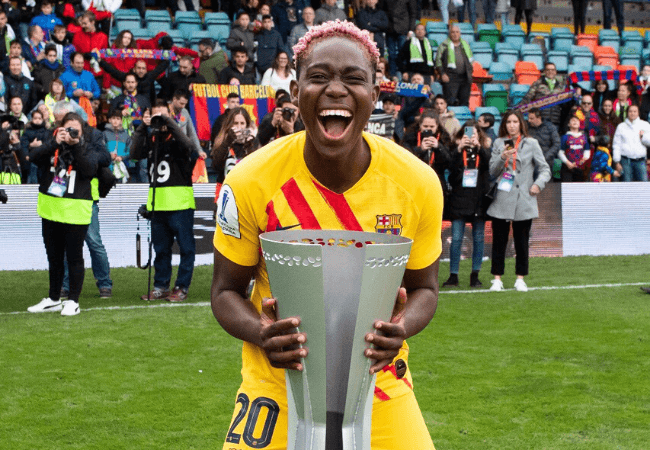 Asisat Oshoala helps Barcelona win their first female Super Copa