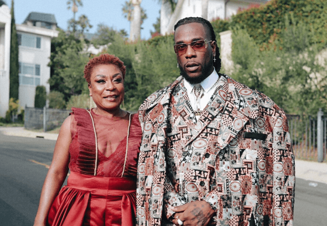 ICYMI: This is how Burna Boy and his mom, Bose Ogulu showed up to the Grammys