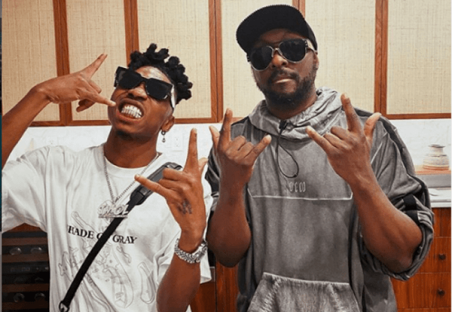 Mayorkun teases Will.i.am and Black eyed peas collaboration