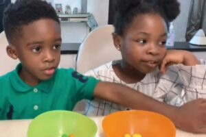 Tiwa Savage's son and Davido's daughter
