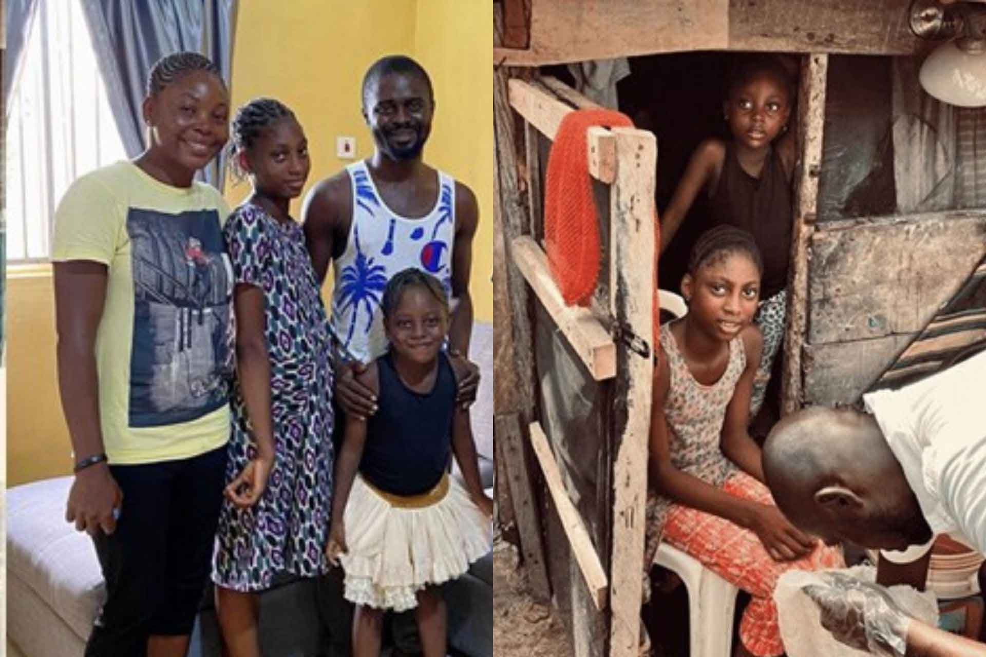 Nollywood actor buys new house for a family living in a slum   Watch on Sidomex