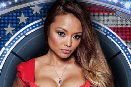 Tila Tequila at the Celebrity Big Brother TV show in 2015 before her eviction.