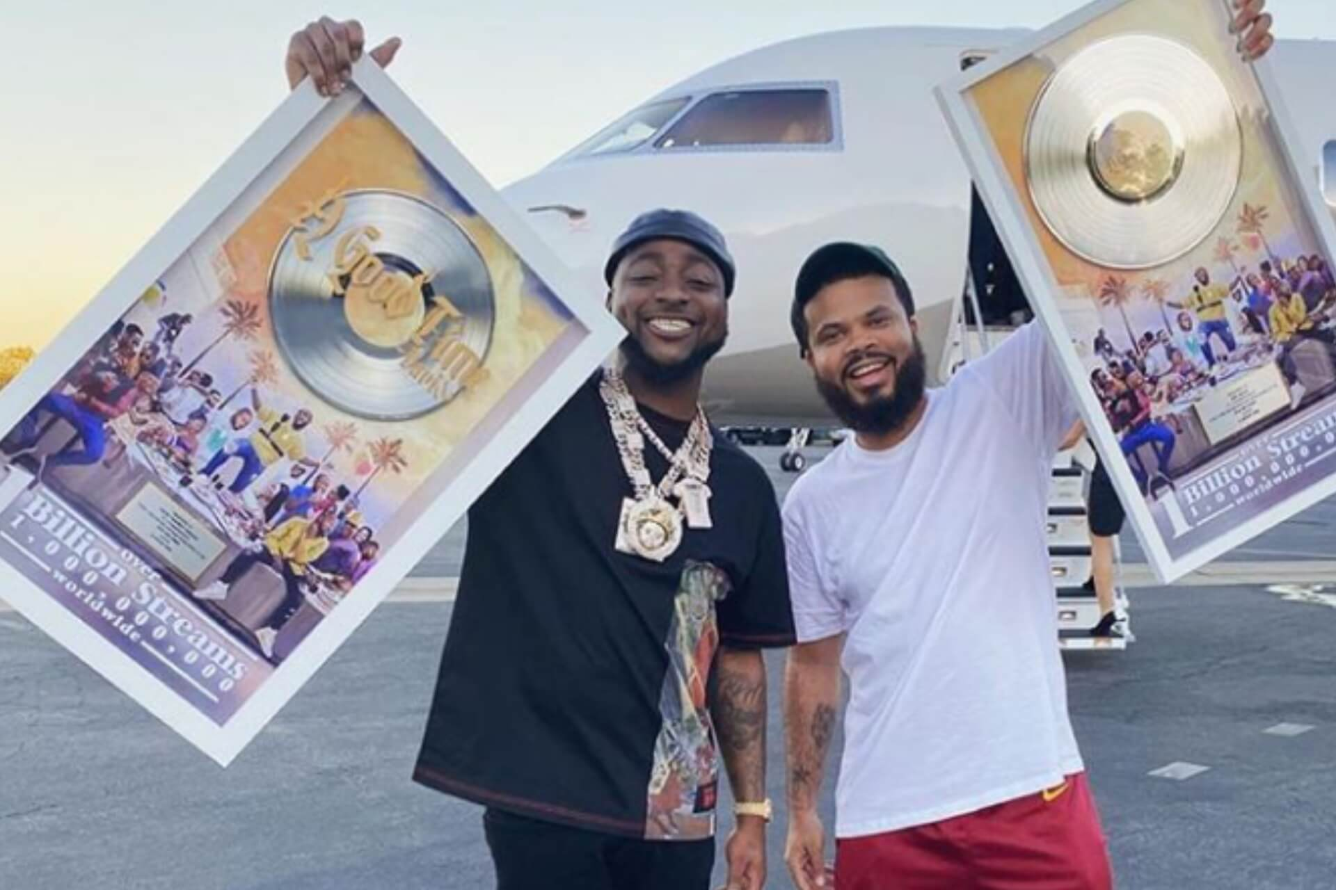 Davido gets plaque from Sony Music over 'A Good Time' album's 1 billion streams worldwide