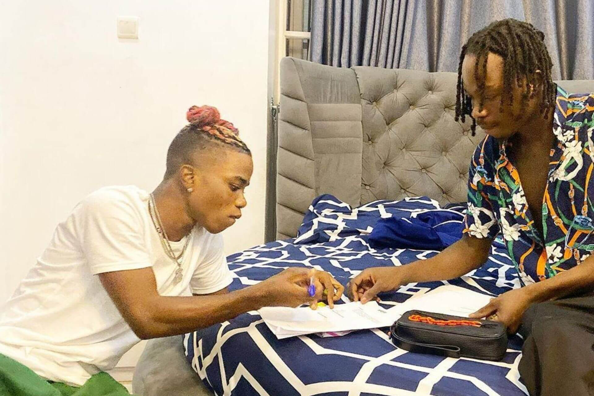 Naira Marley signs singer, Lyta to Marlian Music [photo]