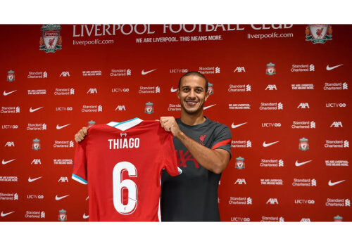 Liverpool complete Thiago Alcantara signing on a four-year deal