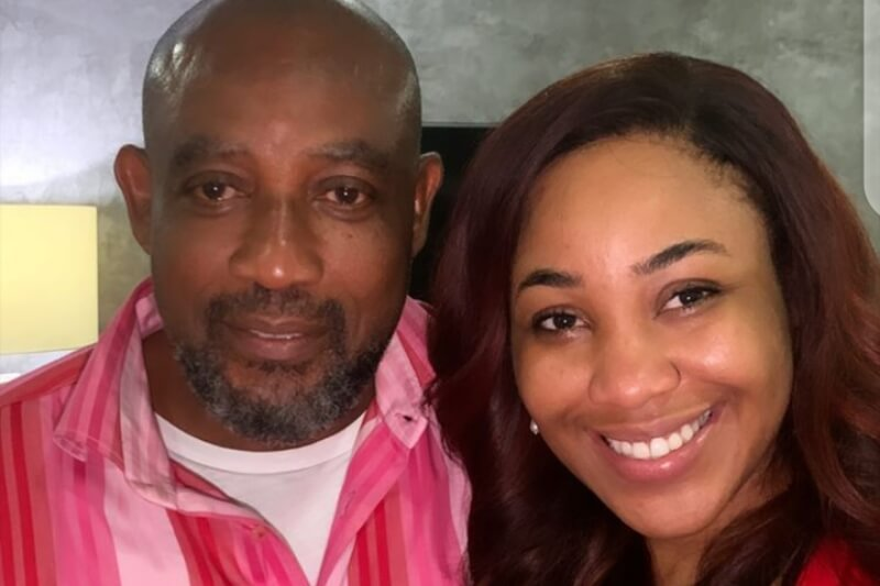 Erica all smiles as she reunites with her father
