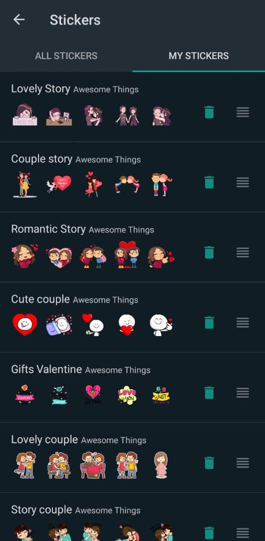 Download WhatsApp Happy Valentine's Day stickers and share