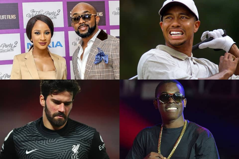 ICYMI: Adesua and Banky W welcome son, Tiger Woods hospitalised, and more