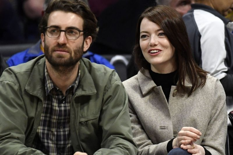 American actress Emma Stone and Dave McCary