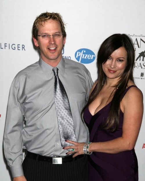 Tilly with her partner, Phil Laak