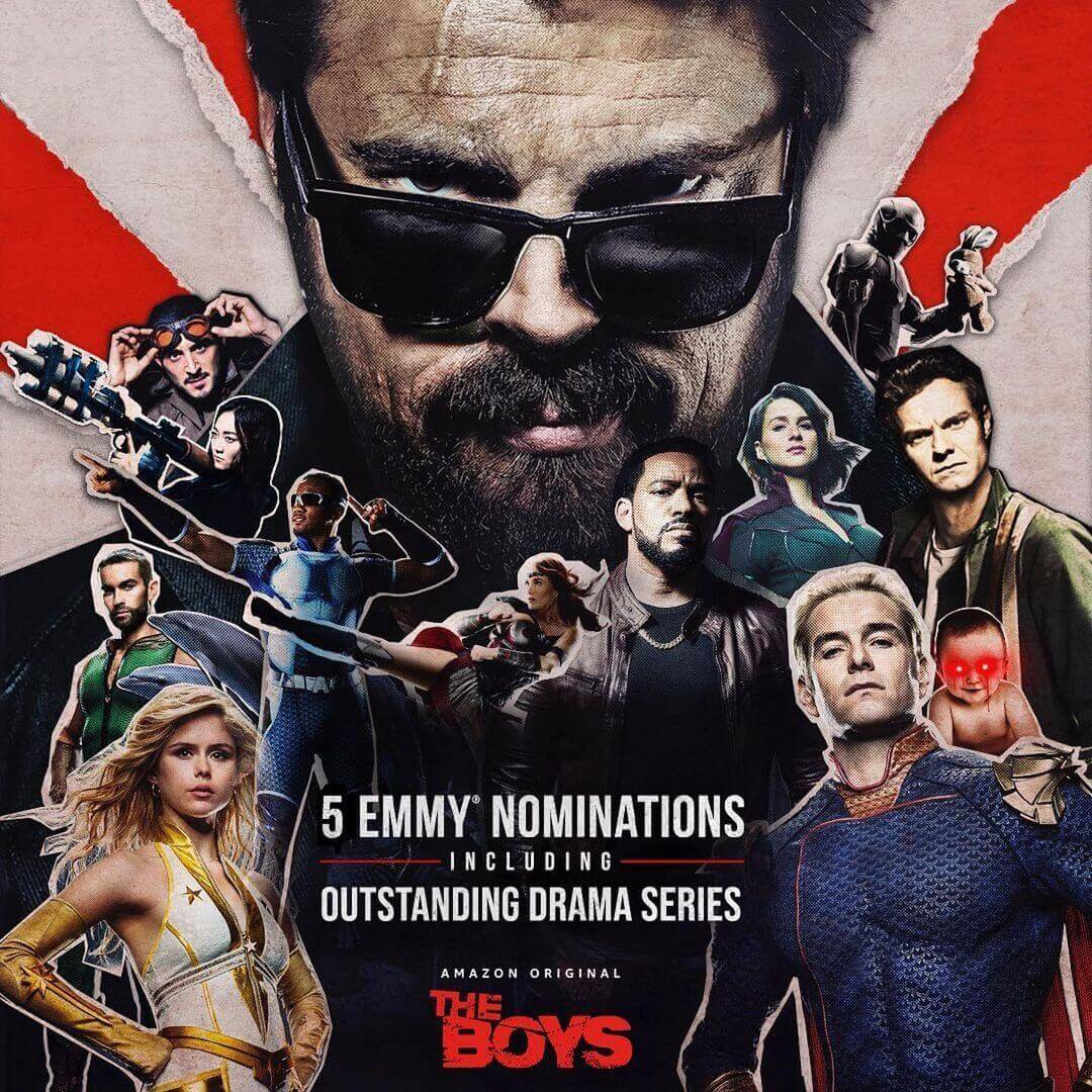 Emmy nominations for the TV show, The Boys