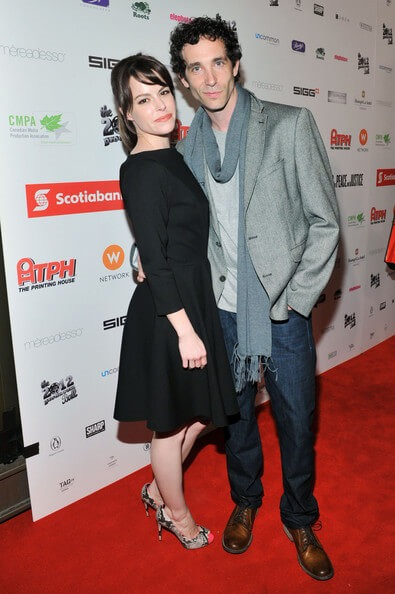 Emily Hampshire and former partner, Matthew Smith