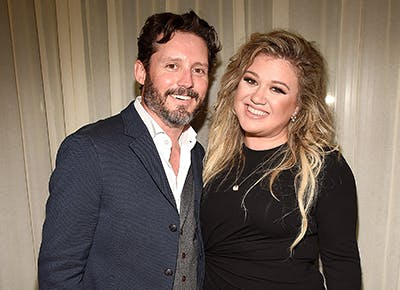 Elisa's first son, Brandon and ex wife Kelly Clarkson
